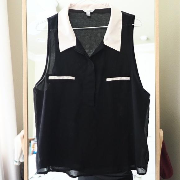 Forever 21 Tops - F21 Contrast Collar Sleeveless Shirt